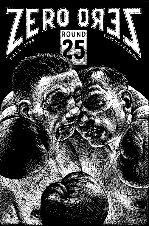 Zero Zero #25 cover art and storyboard